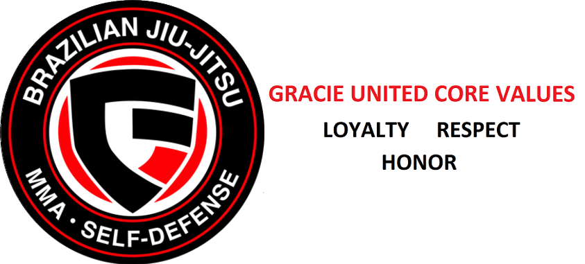 Gracie United Core Values: Loyalty Respect Honor